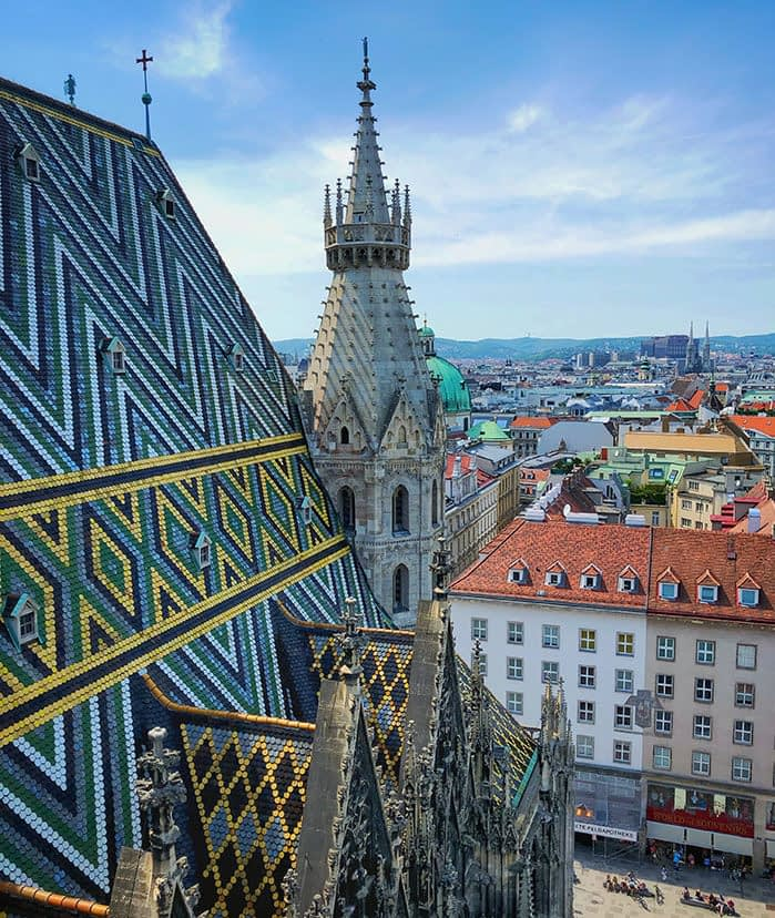 St. Stephan's Cathedral view on Vienna
